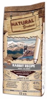 Natural Greatness 12 кг Rabbit Recipe Light&Fit Сухой корм для собак с избыточным весом Рецепт с Кроликом