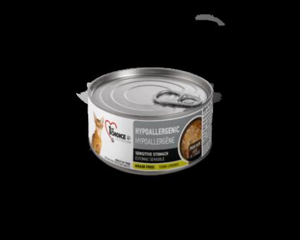 1st Choice 85г Гипоаллергенные консервы для кошек с Уткой, Картофелем и Тыквой