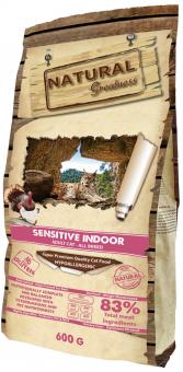 Natural Greatness 6 кг Sensitive Indoor Сухой корм Рецепт для домашних кошек с чувствительным пищеварением с мясом курочки и индейки