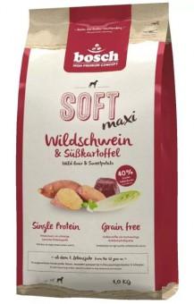 Bosch 2,5кг Soft Maxi Полувлажный корм для взрослых крупных пород с чувствительным пищеварением,с кабаном и бататом