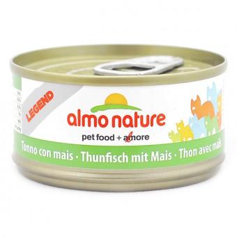 6шт Almo Nature 70г с тунцом и сладкой кукурузой  консервы для кошек Legend Adult Cat Tuna&Sweet Corn