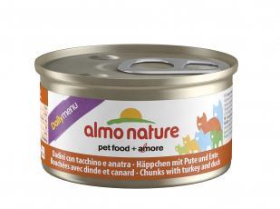 6шт Almo Nature 85гр с меню с индейкой и уткой консервы для кошек Daily Menu Cat Turkey&Duck
