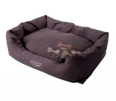 Rogz 88x55x26см SPICE POD LG MOCHA BONE Лежак с бортиком и двусторонней подушкой большой серия  SPICE, Кофейные косточки