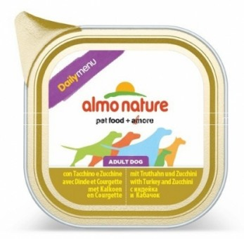 6шт Almo Nature 100г Daily Menu Turkey and Courgette Паштет для собак Меню с индейкой и цуккини
