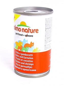 Almo Nature 280г Classic HFC Adult Cat Chicken&Shrimps Консервы для Кошек с Курицей и Креветками