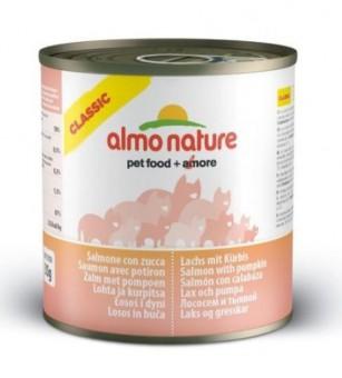 Almo Nature 280г Classic HFC Adult Cat Salmon&Pumpkin Консервы для Кошек с Лососем и Тыквой