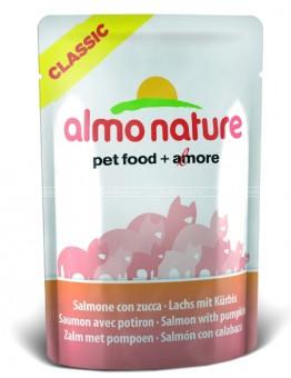 6шт Almo Nature 55гр Classic Nature Salmon&Pumpkin Паучи для Кошек с Лососем и Тыкво