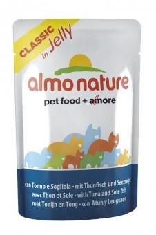 6шт Almo Nature 55гр Classic Nature Jelly Tuna&Sole Паучи Тунец и Камбала в Желе для кошек