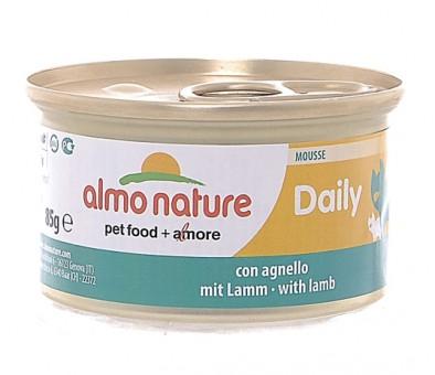 6шт Almo Nature 85гр Daily Menu - mousse with Lamb Консервы нежный мусс для кошек Меню с Ягненком