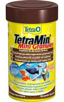TetraMin Mini Granules 100 мл - корм в маленьких гранулах для молоди рыб и рыб с маленьким ртом