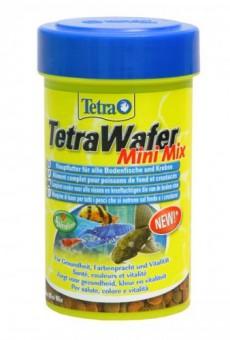 TetraWaferMix 100 мл - корм для всех донных рыб в  пластинках (чипсах), долго не распадающихся под водй. Подходит для кормления ракообразных.