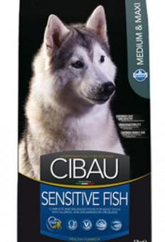 Farmina 2,5 кг Cibau Sensitive Fish Adult Medium & Maxi Корм для взрослых собак  средних и крупных пород рыба с рисом