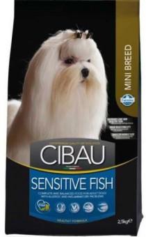 Farmina 2,5 кг Cibau Sensitive Fish Mini Корм для взрослых собак мелких пород с рыбой