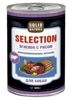 Solid Natura Selection 0,97кг Влажный корм Ягненок с рисом