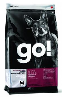 Go Natural 2,72кг Sensitivity Shine 24/12 беззерновой для щенков и собак с ягненком для чувст. пищеварения