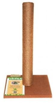 Homecat 41*41*63 см Когтеточка-столбик для кошек МАКСИ цвет коричневый