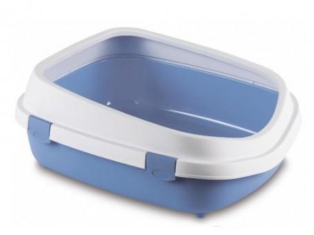 Stefanplast Туалет 55*71*24,5см Queen с рамкой, голубой