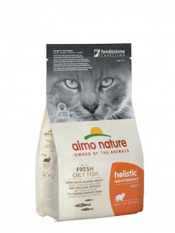 Almo Nature 12кг для взрослых кошек  с белой рыбой и коричневым рисом