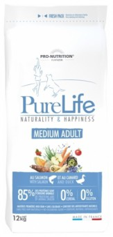 Flatazor 12 кг Pure Life Adult Medium Сухой корм для взрослых собак средних пород