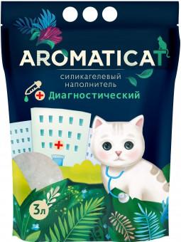 Aromaticat 3 литра (1.25 кг) Диагностический селикагелевый наполнитель для кошачьих туалетов с гранулами-индикаторами pH