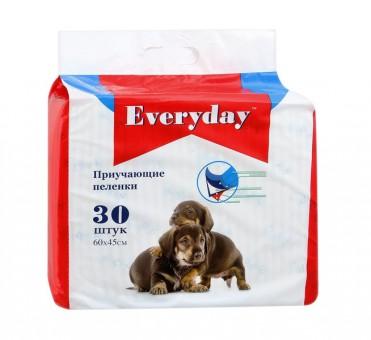 Everyday 60x60см 30шт Гелевые пеленки для животных