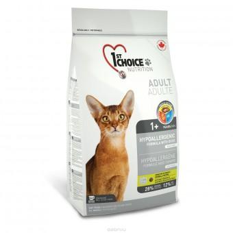 1st Choice 2,72 кг Hypoallergenic гипоаллергенный корм для кошек утка