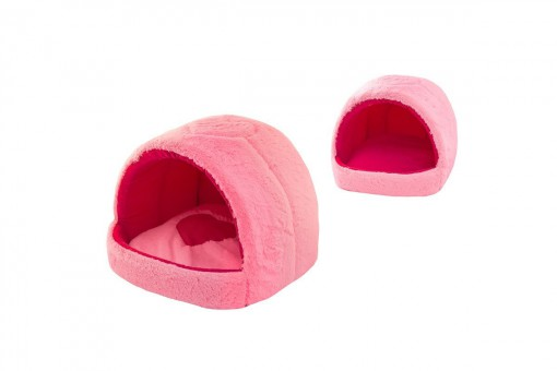 Дарэлл Домик Zoo-M мягкий  GROT 42*40*36 см розовый