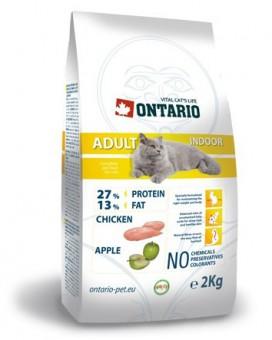 Ontario 10кг Adult Indoor Сухой корм для домашних кошек с цыпленком