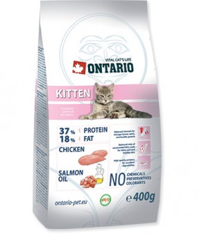 Ontario 0,4кг Kitten Сухой корм для котят с курицей