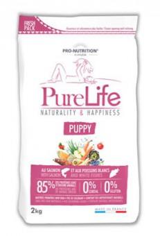 Flatazor 12 кг Pure Life Puppy Сухой корм для щенков, лосось/белая рыба