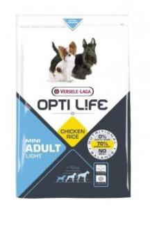 Opti Life Adult Light Mini 2.5кг Сухой корм для собак мелких пород с избыточным весом, курица/рис