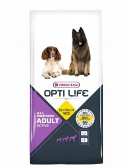 OPTI LIFE Adult Active 12.5кг Сухой корм для активных собак всех пород, курица/рис