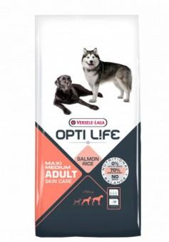 Opti Life Adult Skin Care Medium/Maxi 12.5кг Сухой корм для собак средних и крупных пород, лосось/рис