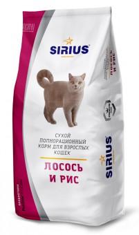 Sirius 0,4 кг Лосось и рис сухой корм для кошек