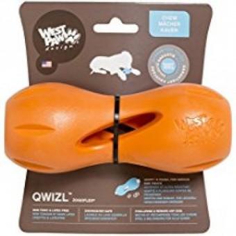 Zogoflex игрушка для собак гантеля под лакомства Qwizl L 17 x 7 см оранжевая