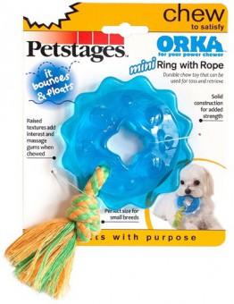 Petstages игрушка для собак Mini ОРКА кольцо с канатом диаметр 8 см маленькая