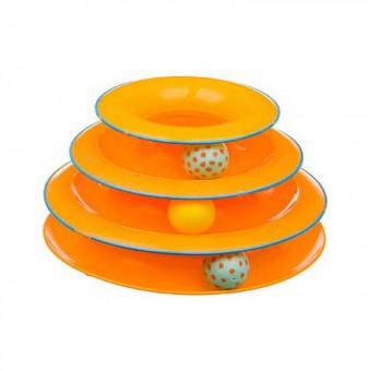 Petstages игрушка для кошек Трек 3 этажа диаметр основания 24 см