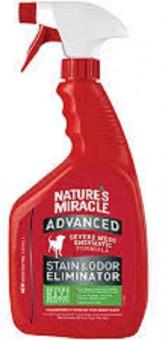 Nature's Miracle 946мл Уничтожитель пятен и запахов с усиленной формулой для собак, спрей, NM ADV Dog Stain Odor Elimin Spray