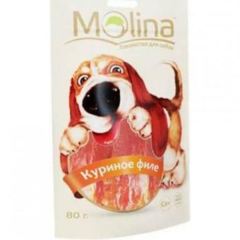Molina лакомства 80гр. Куриное филе для собак