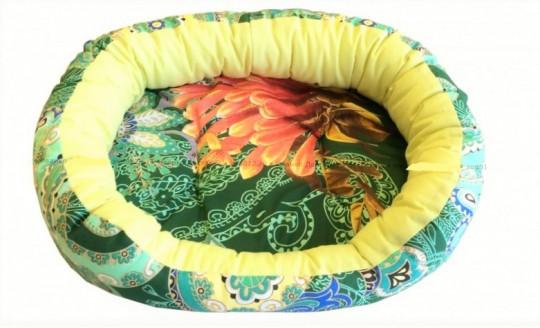 CLP M 54*46*16см овальная лежанка из бязи для собак и кошек