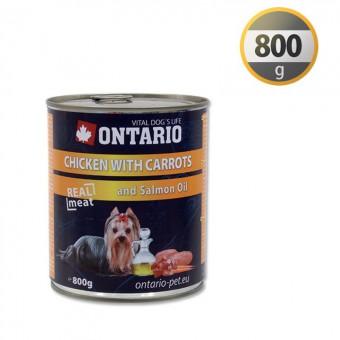 Ontario 0,8кг Консервы для собак курица и морковь