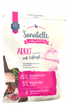 Sanabelle 2 кг Adult с птицей  сухой корм для кошек