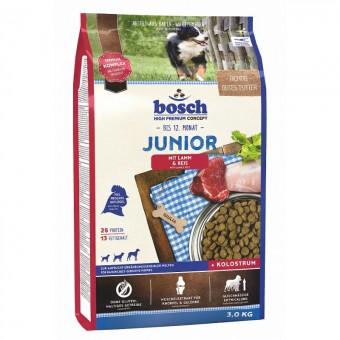 Bosch 3кг Junior lamb rice Сухой корм для щенков с чувствительным пищеварением ягненок рис