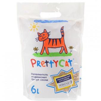 Pretty cat Wood Granulies 2кг Наполнитель древесный (светлые гранулы, пром. упаковка)
