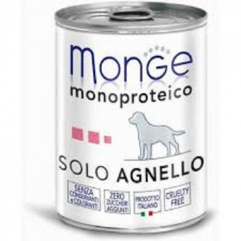 Monge Dog Monoproteico Solo 400гр консервы для собак паштет из ягненка