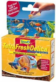 TetraFreshDelica Bloodworms 48г корм мотыль в желе