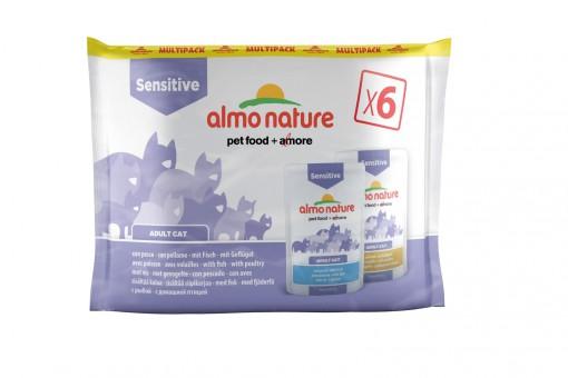 Almo Nature 6x70гр паучи  для кастрированных котов и кошек, с треской и курицей