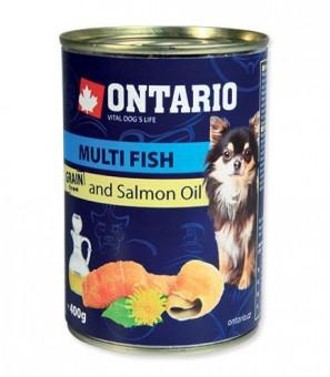 Ontario 0,4кг Консервы для собак малых пород рыбное ассорти