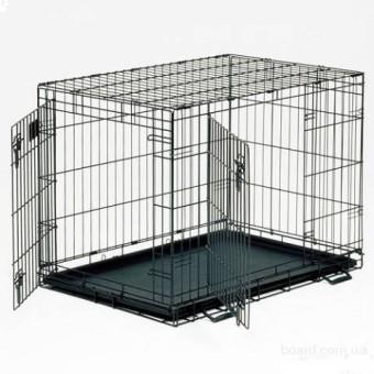 iCrate клетка 76х48х53 черная, вес 7,8 кг 2-х дверная, черная