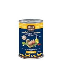 6шт.Solid Natura Holistic 0,34 кг Консервы для взрослых собак, курица